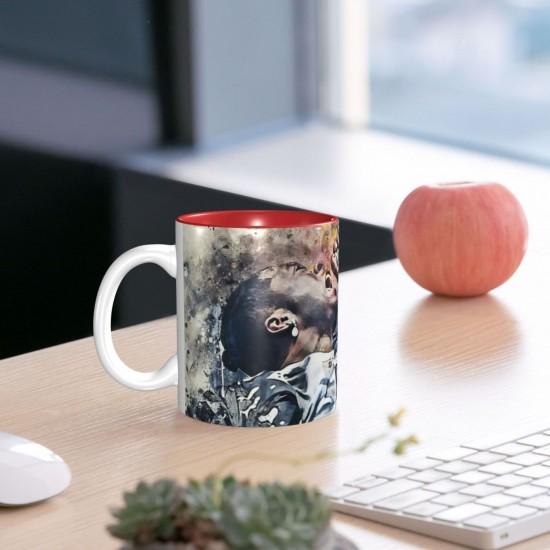 2Pac ceramics Coffee Mug for Cappuccino,Funny Coffee Mug, Microwave Safe, Won't Fade Away, Great Gift Cup Idea for Any Occasion Father's Day 11OZ