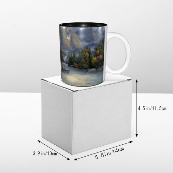Space For Reflection ceramics Coffee Mug for Cappuccino,Funny Coffee Mug, Microwave Safe, Won't Fade Away, Great Gift Cup Idea for Any Occasion etc 11OZ