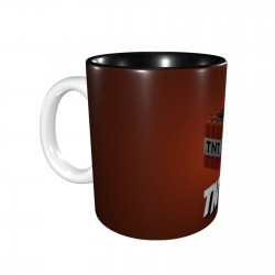 Minecraft TNT Orange ceramics Coffee Mug for Latte or Hot Tea,Funny Coffee Mug, Microwave Safe, Won't Fade Away, Great Gift Cup Idea for Any Occasion Christmas 11OZ