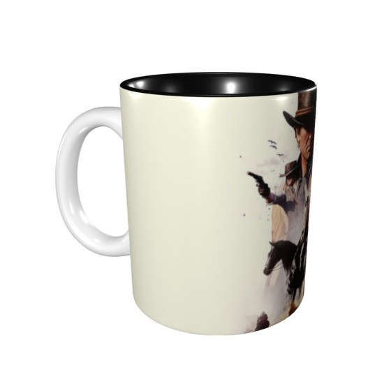 Arthur Morgan Dutch Van Der Linde John Marston Red Dead Redemption 2 ceramics Coffee Mug for Latte or Hot Tea,Funny Coffee Mug, Microwave Safe, Won't Fade Away, Great Gift Cup Idea for Any Occasion Father's Day 11OZ