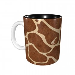 Giraffe Skin ceramics Coffee Mug for Latte or Hot Tea,Funny Coffee Mug, Microwave Safe, Won't Fade Away, Great Gift Cup Idea for Any Occasion Father's Day 11OZ